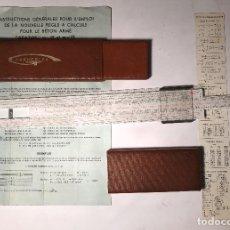 Antigüedades: REGLA DE CALCULO DE BOLSILLO-REGLA DE CALCULO PARA H.A(32€). Lote 133472618
