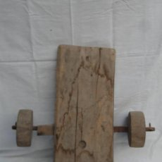 Antigüedades: PARTE DE UN CARRO DE MADERA.. Lote 133490270
