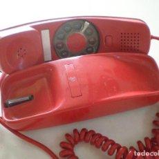 Teléfonos: TELEFONO GONDOLA ROJO AÑOS 70 CITESA, MALAGA // ADAPTADO PARA RECIBIR LLAMADAS // VINTAGE RETRO. Lote 133571454