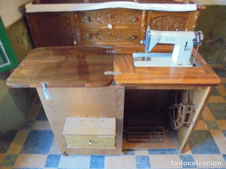 MAQUINA DE COSER ALFA - FUNCIONANDO Y COMO NUEVA (Antigüedades - Técnicas - Máquinas de Coser Antiguas - Alfa)