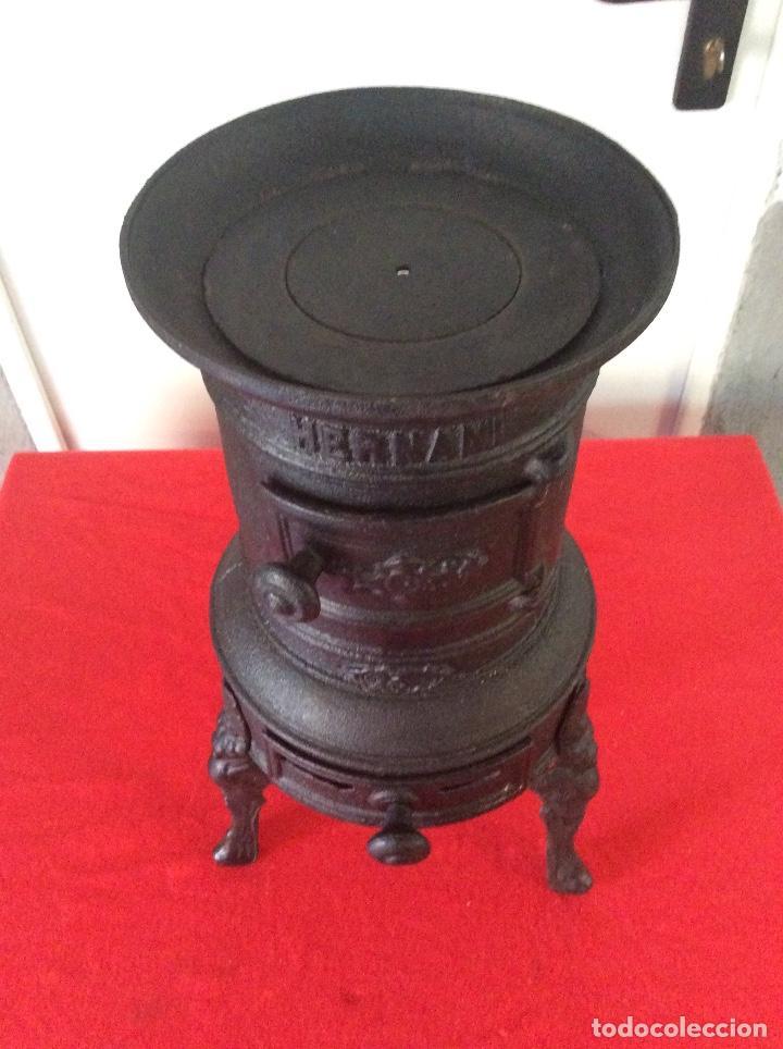 Antigüedades: Estufa hierro fundido de leña o carbon. - Foto 3 - 133588522