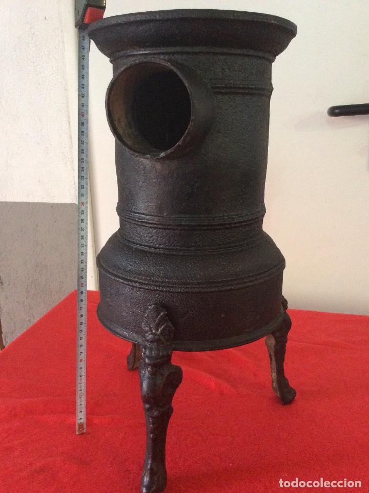 Antigüedades: Estufa hierro fundido de leña o carbon. - Foto 5 - 133588522