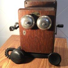 Teléfonos: TELÉFONO MURAL DE MADERA Y BAQUELITA 5504-H, CON MAGNETO, DE STANDARD ELÉCTRICA PARA LA CTNE. Lote 133620834