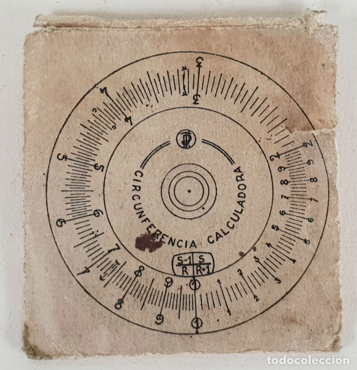 Antigüedades: REGLA DE CÁLCULO CIRCULAR. SLIDE RULE RECHENSCHIEBER. SIGLO XX. - Foto 6 - 133626382