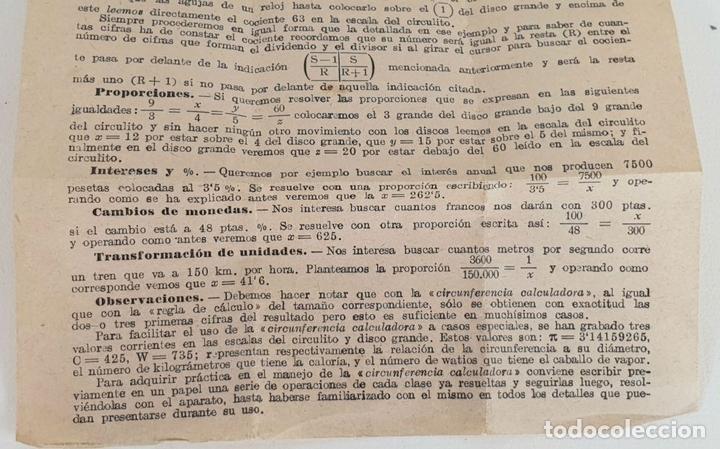 Antigüedades: REGLA DE CÁLCULO CIRCULAR. SLIDE RULE RECHENSCHIEBER. SIGLO XX. - Foto 8 - 133626382