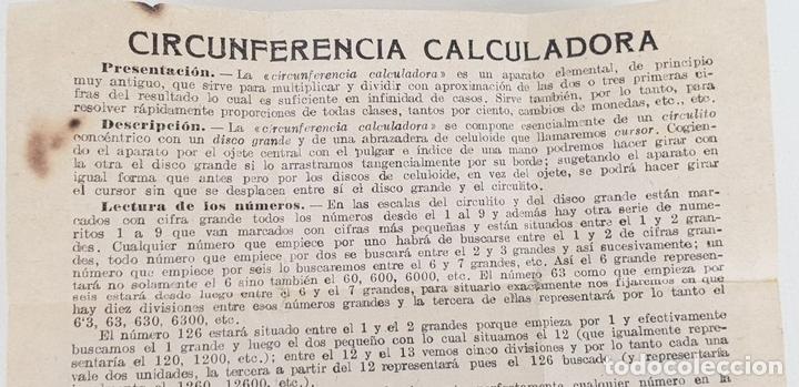 Antigüedades: REGLA DE CÁLCULO CIRCULAR. SLIDE RULE RECHENSCHIEBER. SIGLO XX. - Foto 9 - 133626382