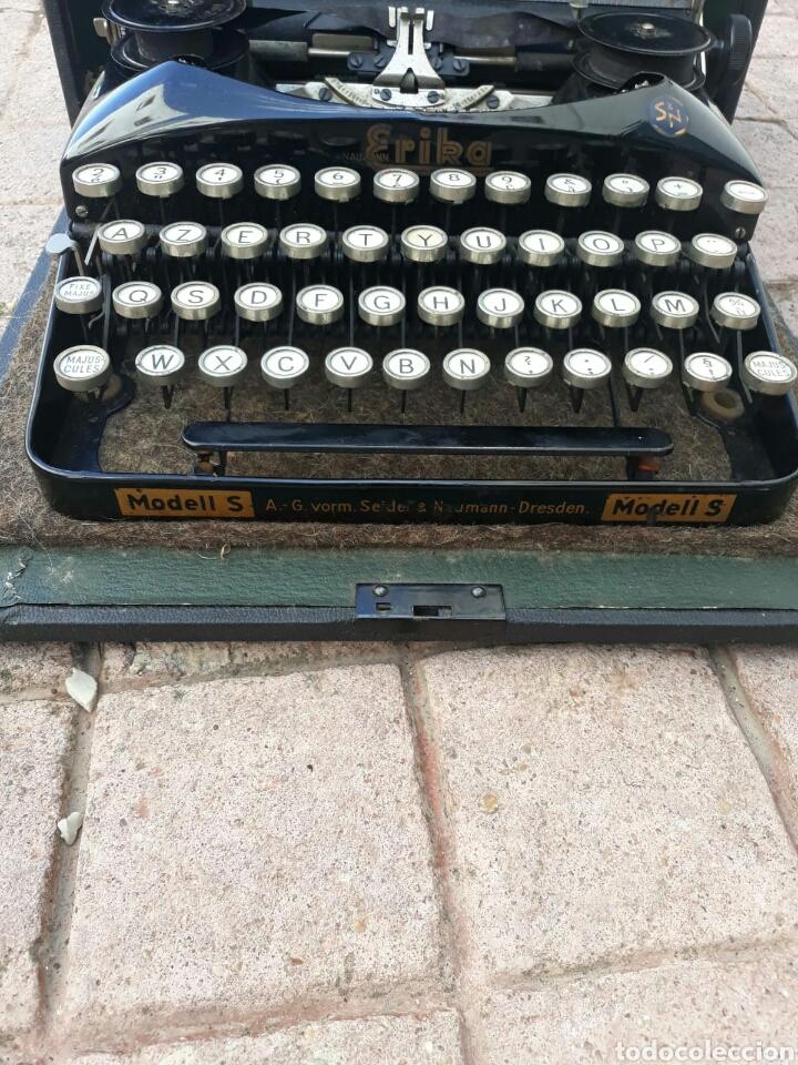 Antigüedades: Máquina de Escribir ERIKA portátil (Muy buen estado) - Foto 4 - 133626946