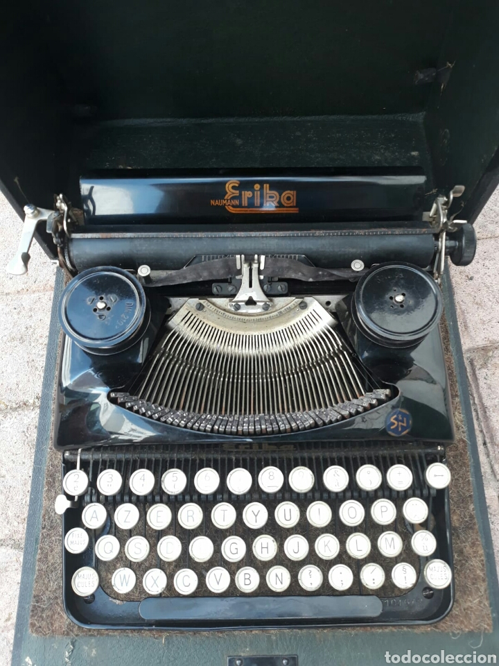 Antigüedades: Máquina de Escribir ERIKA portátil (Muy buen estado) - Foto 6 - 133626946