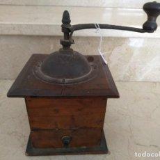 Antigüedades: ANTIGUO MOLINILLO DE CAFE FRANCES MADERA. Lote 133629966