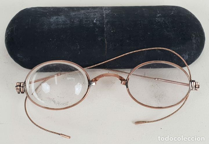 GAFAS PARA LEER. MONTURA EN METAL CHAPADO. CRISTALES OVALES. SIGLO XX. (Antigüedades - Técnicas - Instrumentos Ópticos - Gafas Antiguas)