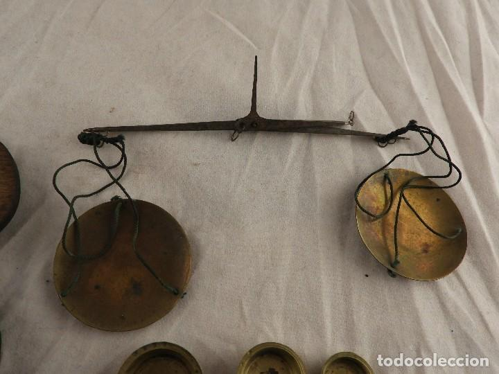 Antigüedades: ANTIGUA BALANZA CAJA DE PONDERALES S. XIX - Foto 5 - 133650194