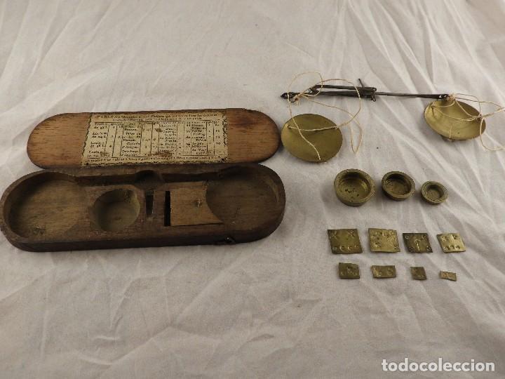 Antigüedades: ANTIGUA CAJA DE PONDERALES S. XIX - Foto 4 - 133651750