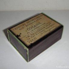 Antigüedades: ANTIGUA CAJA DE MEDICAMENTO. COCAINE.. Lote 133667062