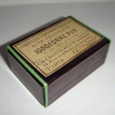 Antigüedades: ANTIGUA CAJA DE MEDICAMENTO. IODOFORME PUR.. Lote 133667234