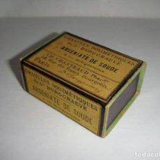 Antigüedades: ANTIGUA CAJA DE MEDICAMENTO. ARSEINATE DE SOUDE.. Lote 133667386