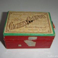 Antigüedades: ANTIGUA CAJA DE MEDICAMENTO. 100 GACHETS CRAMPONS. Lote 133667670