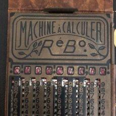 Antigüedades: MACHINE À CALCULER RÉBO (CALCULADORA) FRANCIA AÑOS 20. Lote 133675846