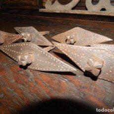 Antigüedades: 6 CLAVOS DE HIERRO FORJADO Y PUNZADO FORJA DEL XVII REMINISCENCIAS MUDÉJARES . Lote 133729078