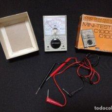Antigüedades: ANTIGUO MINI MEDIDOR / MULTIMETRO / TESTER ANALOGICO ELECTRICIDAD - ISHII C1000. Lote 133739758