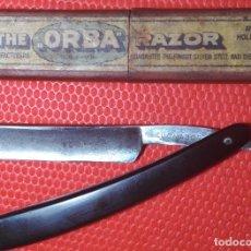 Antigüedades: LUCHADOR NAVAJA AFEITAR, BARBERO, STRAIGHT RAZOR, RASOIO. Lote 133775690