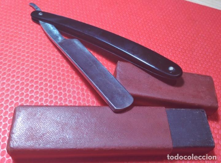 Antigüedades: Luchador navaja afeitar, barbero, straight razor, rasoio - Foto 3 - 133775690