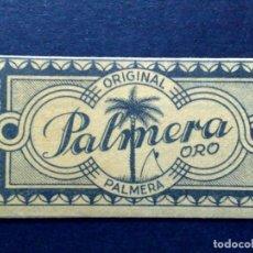 Antigüedades: HOJA DE AFEITAR ANTIGUA,PALMERA ORO Nº60,ORIGINAL PALMERA (PTAS 0,70) JUAN VOLLMER (DESCRIPCIÓN). Lote 133913490