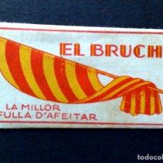 Antigüedades: HOJA DE AFEITAR ANTIGUA,EL BRUCH,LA MILLOR FULLA D'AFEITAR (DESCRIPCIÓN). Lote 133913962