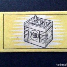 Antigüedades: HOJA DE AFEITAR ANTIGUA,PEBE,OBSEQUIO DE NIFE,S.A.,MADRID-BARCELONA-BILBAO (DESCRIPCIÓN). Lote 133914058