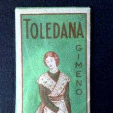 Antigüedades: HOJA DE AFEITAR ANTIGUA,TOLEDANA-TEMPLE DE TOLEDO,¡¡ GIMENO !! GIRO CABEZA IZQUIERDA (DESCRIPCIÓN. Lote 133914658