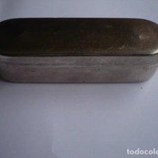 Antigüedades: CAJA METAL DE JERINGUILLA ANTIGUA. Lote 134112486