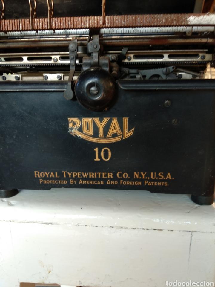 Antigüedades: Maquina de escribir royal 10 - Foto 8 - 134134694