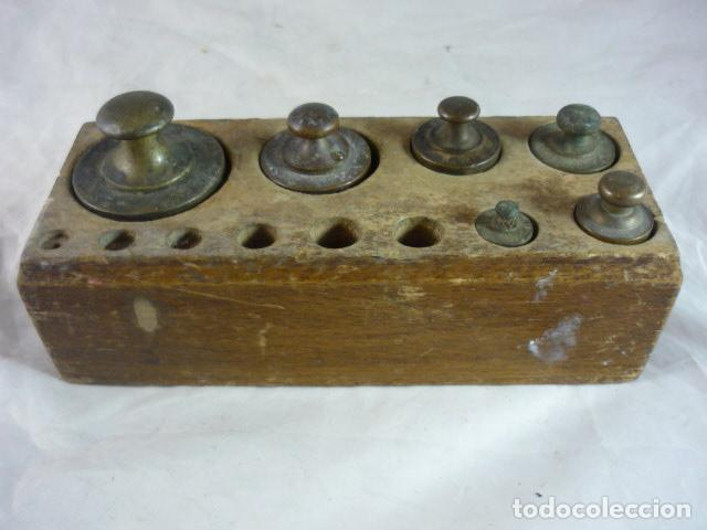 TACO DE PESAS BRONCE (Antigüedades - Técnicas - Medidas de Peso Antiguas - Otras)