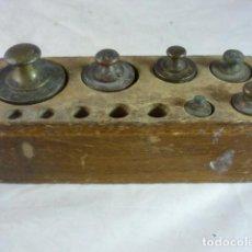 Antiquités: TACO DE PESAS BRONCE. Lote 134242438