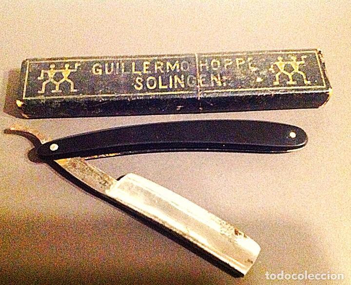 Antigüedades: Colección Maquinilla De Afeitar Gillette Single Afilador Barbero Navaja Guillermo Hoppe Solingen - Foto 3 - 134274102