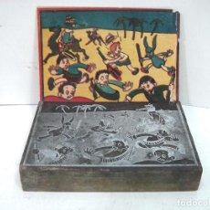 Antigüedades: PLANCHA IMPRENTA AÑOS 50 - CON DIBUJO VIÑETA COMICA TBO - TIPOGRAFIA 8X12 CMS - COMIC TEBEO X3. Lote 134332614