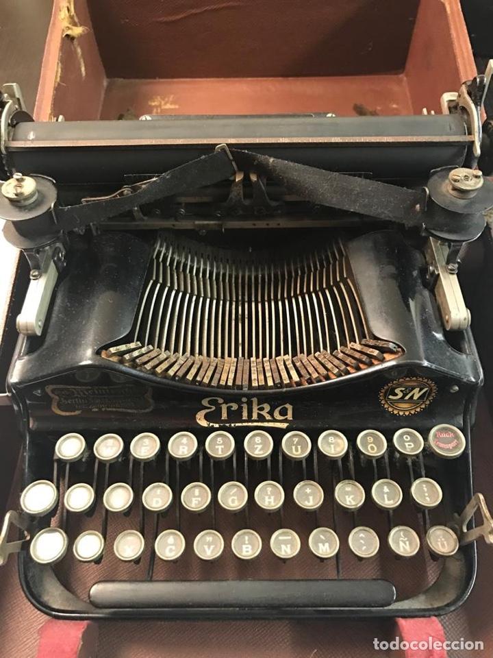 ANTIGUA MÁQUINA DE ESCRIBIR ERIKA (Antigüedades - Técnicas - Máquinas de Escribir Antiguas - Erika)