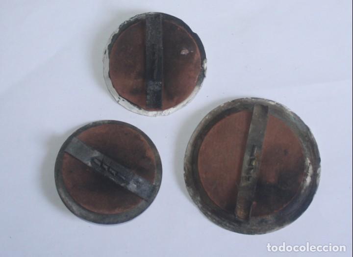 Antigüedades: lote de 3 tapas de registro eléctrico antiguas - Foto 2 - 134577090