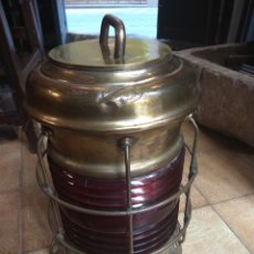 Antigüedades: FAROL DE BARCO PERKO - PERKINS MARINE LAMP - BROOKLYN NEW YORK -. Lote 134711635