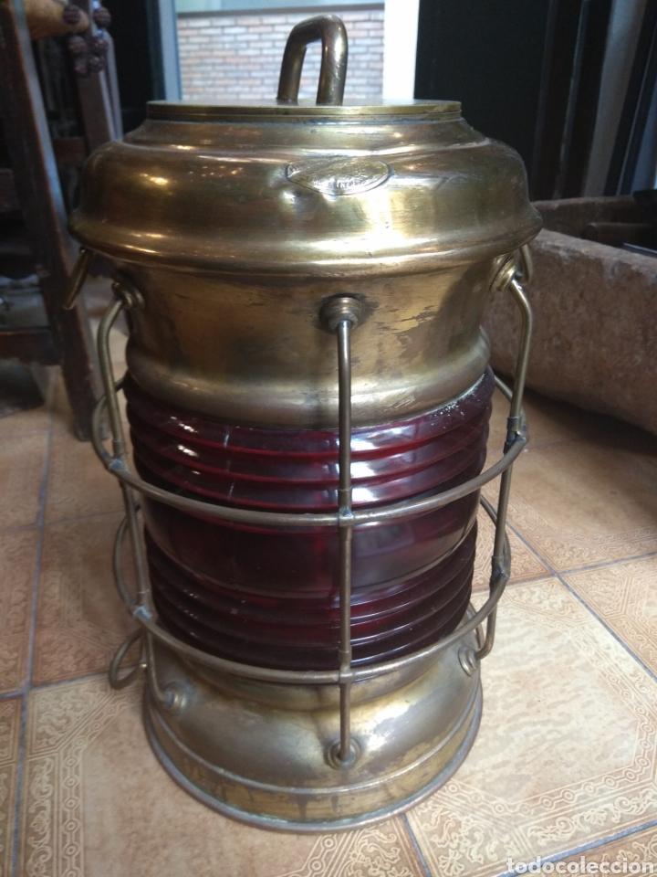 Antigüedades: Farol de Barco Perko - Perkins Marine Lamp - Brooklyn New York - - Foto 2 - 134711635