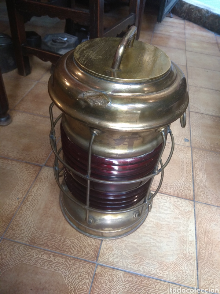 Antigüedades: Farol de Barco Perko - Perkins Marine Lamp - Brooklyn New York - - Foto 3 - 134711635