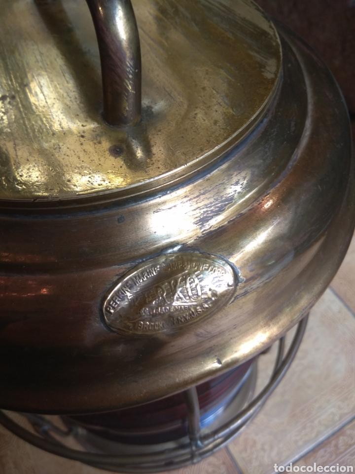 Antigüedades: Farol de Barco Perko - Perkins Marine Lamp - Brooklyn New York - - Foto 4 - 134711635