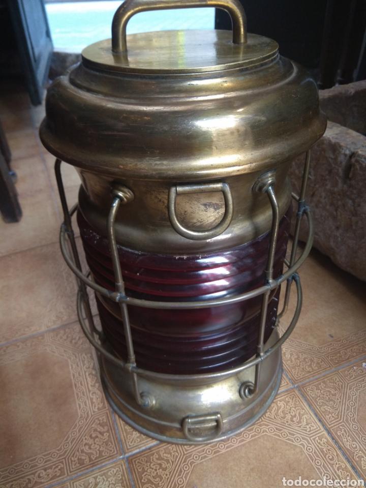 Antigüedades: Farol de Barco Perko - Perkins Marine Lamp - Brooklyn New York - - Foto 10 - 134711635