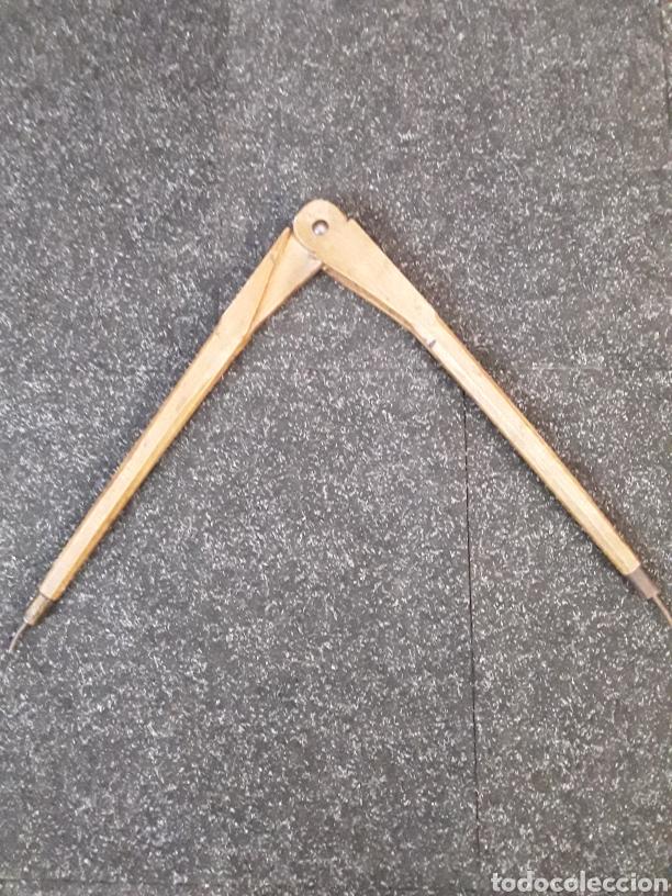 Antigüedades: Compas antiguo de madera - Foto 5 - 134821347