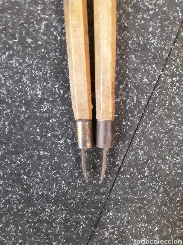 Antigüedades: Compas antiguo de madera - Foto 6 - 134821347