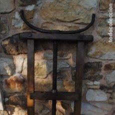 Antigüedades: PRENSA DE TONELERO EXTRAORDINARIA PIEZA. Lote 134882382