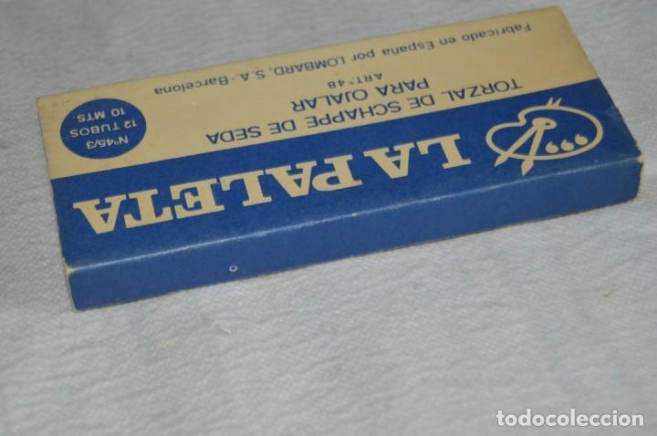 Antigüedades: ANTIGUA CAJA DE HILOS LA PALETA - COMPLETA - SEDA - COLOR Nº 2739 - VINTAGE - ENVÍO24H - Foto 5 - 134982810