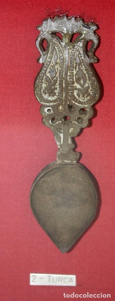 Antigüedades: 5 CUCHARAS MEDICINALES- DE COLECCIÓN- SIGLOS- XVII Á XIX. - Foto 7 - 135002514