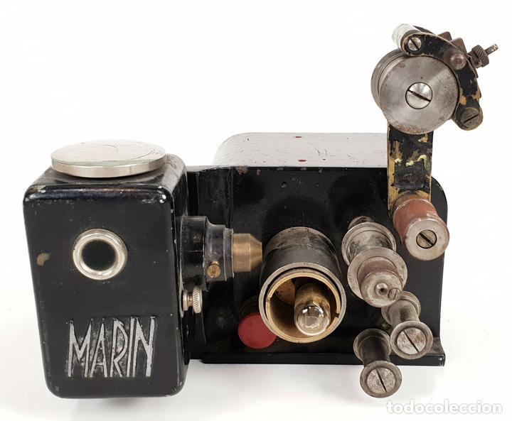 CABEZAL Y MOTOR DE ARRASTRE DE PROYECTOR MARIN. 35 MM. SIGLO XX. (Antigüedades - Técnicas - Aparatos de Cine Antiguo - Proyectores Antiguos)