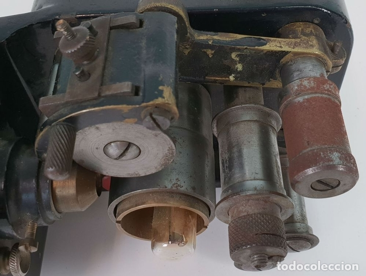 Antigüedades: CABEZAL Y MOTOR DE ARRASTRE DE PROYECTOR MARIN. 35 MM. SIGLO XX. - Foto 5 - 135088770
