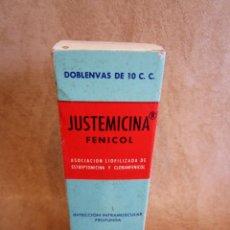 Antigüedades: MEDICAMENTO JUSTEMICINA LABORATORIOS JUSTE AÑOS 60. Lote 135145366